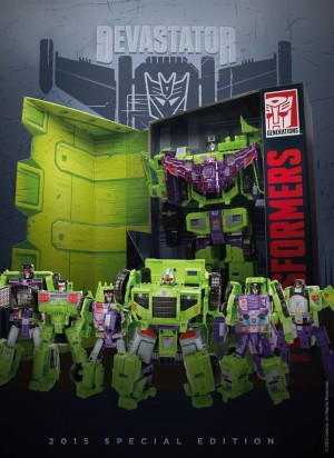 Transformers News: Out of Box and Individual Constructicon Images of SDCC 2015 Exclusive Devastator