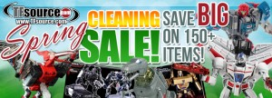 TFsource 4-6 Weekly SourceNews! Spring Cleaning Sale, GCreation Thunderous, TF Platinum Sets & More!