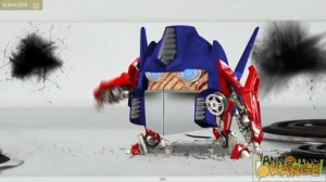Transformers News: Annoying Orange Transformers Spoof, Featuring Michael Baygle and Optimus Prime Rib