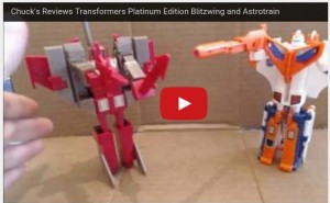 Transformers News: Transformers Platinum Edition Blitzwing and Astrotrain Video Review