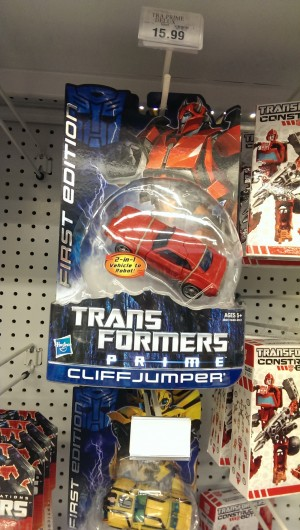 "Transformers News: Transformers Prime First Edition Cliffjumper Showing Up at Toys""R""Us"