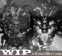 Transformers News: Crazydevy.com Mean Robot Parts Update - New Head