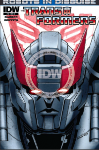 Lunchtime Reading Suggestion:  Read IDW's ROBOTS IN DISGUISE #14-- You won't be sorry!