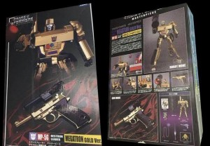 Transformers News: Transformers Masterpiece 30th Anniversary MP-05 Megatron Update - Gold Deco Revealed