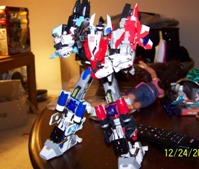 "Transformers News: Toy Review of Fansproject ""Snowman"" Superion Appendage Add-On Kit"