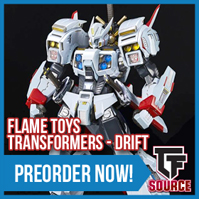 Transformers News: TFsource News! GT Duron Drill, OpenPLay Big Spring, Robot Hero Durden / Barney, FlameToys Drift & More