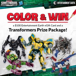 Transformers Coloring Contest for Entertainment Earth