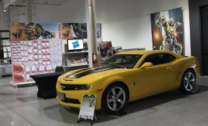 Transformers News: Bumblebee And A Special Optimus Prime On Display For Wal*Mart