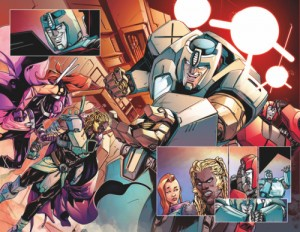 Transformers News: Unlettered Preview of IDW Transformers vs The Visionaries #1