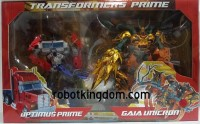Transformers News: In-Package Images: Takara Tomy Transformers Prime Arms Micron Optimus Prime & Gaia Unicron