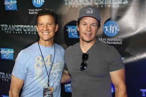 Hasbro CEO Brian Goldner & Mark Wahlberg at Transformers: The Last Knight Charity Screening