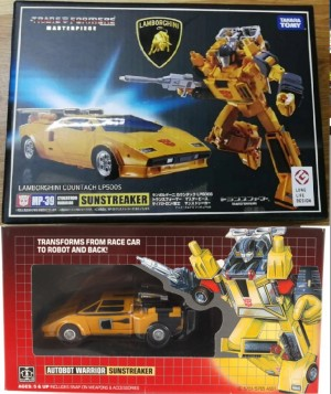 Transformers News: Takara MP-39 Masterpiece Sunstreaker Packaging Photos