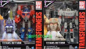 Transformers News: Video Reviews of Titans Return Voyagers Optimus Prime and Megatron