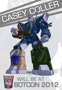 Transformers News: BotCon 2012 Artist Alley Update: Casey Col