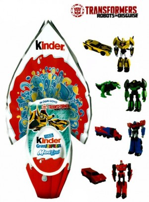 Transformers: Robots in Disguise Easter Kinder Eggs with Toys