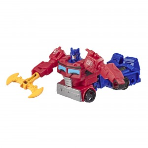 Transformers News: Official Images of Cyberverse Scraplet and a New Half Transformed Prime Revealed