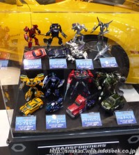 """Toy Display at Tokyo Motor Show 2011: Takara Transformers Prime """"First Edition"""" & DSM Figures"""