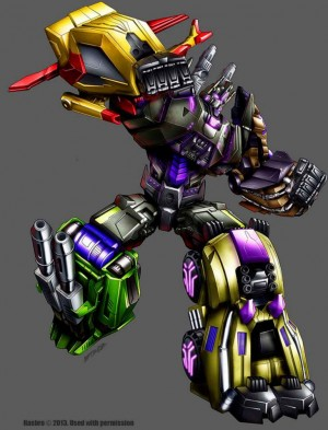 Marcelo Matere Official Package Art - Platinum Edition Bruticus and Year of the Horse Optimus