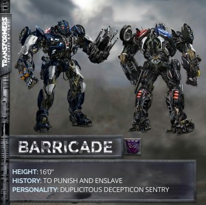 Transformers 5: The Last Knight Barricade robot mode revealed!