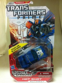 "Transformers Prime ""Robots in Disguise"" Deluxe Hot Shot, Knock Out, & Vehicon In-Package and Bios"