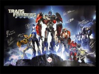 Transformers News: Limited Edition Cast Autographed Transformers Prime Poster Charity Auction