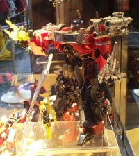 Transformers News: World Hobby Fair 2012 Transformers Prime Display: New Voyager Optimus Prime Repaint / Remold?