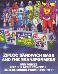 Transformers News: 1986 Transformers The Movie Ziploc Promotion Salesman's Sample Kit