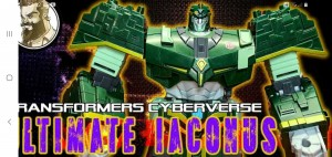 New English Video Review of Transformers Cyberverse Ultimate Class Iaconus