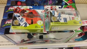 Robots In Disguise One Step Ratchet and Bisk sighted at US retail