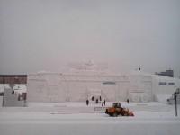 Winter Festival 16 Meter Optimus Prime Snow Sculpture Complete