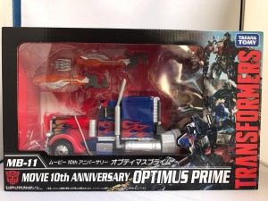 Image of Takara Transformers 10th Anniversary MB 11 Optimus Prime In Box