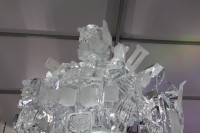 Transformers News: Movie-verse Optimus Prime Ice Sculpture