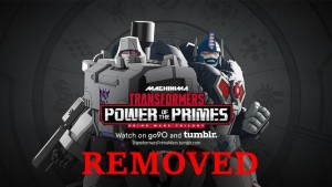 Transformers News: Machinima Prime Wars Trilogy episodes privatized on YouTube and removed from Tumblr