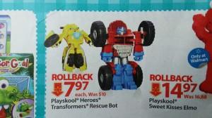 Transformers News: Transformers: Rescue Bots Playskool Heroes Optimus Prime, Heatwave and Bumblebee on Sale at Walmart