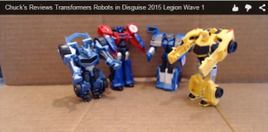 Video Review Of Transformers Robots in Disguise 2015 Legion Wave 1