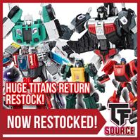 Transformers News: TFsource News! MP-29 Sunstreaker, FT Phoenix, MT Striker Noir, BC Brawny / Backland & Titans Return!
