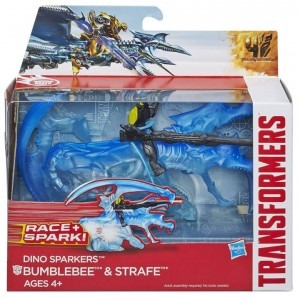 Transformers News: Official Transformers: Age of Extinction In-Package Images of Dino Sparker Bumblebee with Strafe