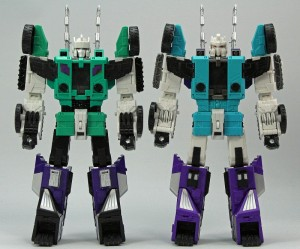 Takara Legends LG50 & LG51 In-Hand Images: Comparison with Titans Return Sixshot, Eye Paint, Haywire