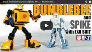 Masterpiece MP-21 Bumblebee / Spike With Exo-Suit Video Review