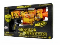 Transformers News: New York Comic Con Exclusive: Nerf N-Strike Barricade RV-10 Special Edition Transformers Bumblebee Blaster