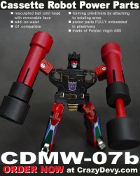 CrazyDevy Update: Frenzy and Rumble Pile Drivers + Devastator Thigh Replacement