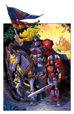 Transformers News: IDW Artist Brendan Cahill BotCon Original Prints - Knightformers, Windblade, Purple