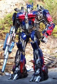 Movie-verse Transformers Scrap Metal Sculptures