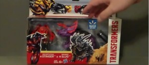 Transformers News: Wal*Mart Exclusives Age of Extinction Decepticon Stinger & Dinobot Slug Video Review