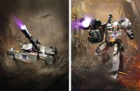 Transformers News: Megatron, Razorclaw, and Warpath from Transformers: Legends Mobile Device Game