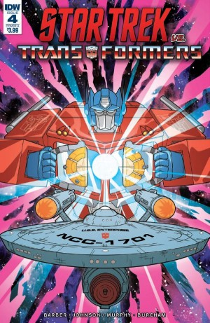 Five Page Preview of IDW Star Trek Vs. Transformers #4