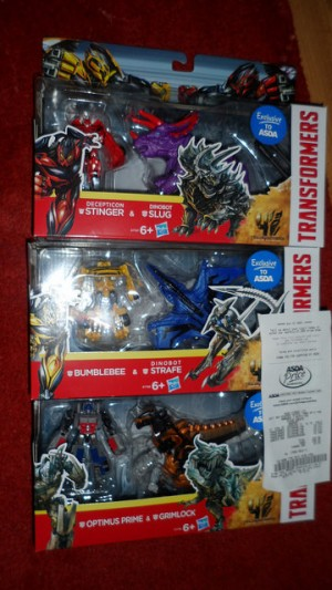 Transformers News: Transformers Age of Extinction Exclusive Two-Packs Sighted at UK Retaild