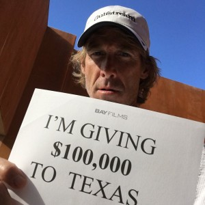 Michael Bay and Mark Wahlberg on Hurricane Harvey Relief Support, The Chosen Prime Charity Raffle