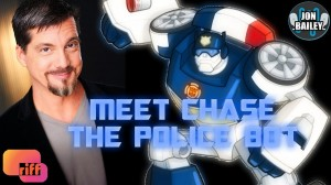 Transformers News: DC Douglas (Chase) Watches Rescue Bots with Jon Bailey