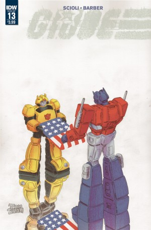 Transformers News: IDW Transformers vs. G.I. Joe To End with Issue 13